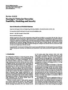 Routing in Vehicular Networks: Feasibility ... - Semantic Scholar
