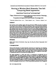 Routing in Wireless Mesh Networks: Two Soft ... - Semantic Scholar