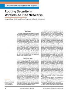 Routing Security in Wireless Ad Hoc Networks - IEEE Xplore