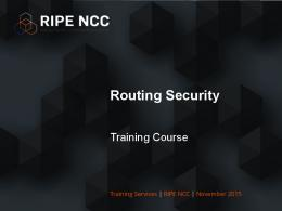 Routing Security Training Course