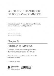 routledge handbook of food as a commons - OAPEN