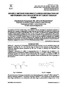 rp-hplc method for simultaneous estimation of metformin and ...