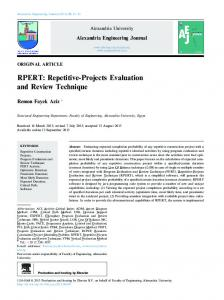 RPERT: Repetitive-Projects Evaluation and Review ...