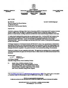 RPS Eligibility - Woody Biomass - State of Michigan