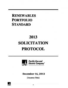 RPS Protocol - Pacific Gas and Electric Company