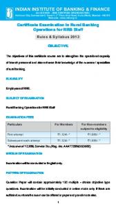 RRB Staff - Indian Institute of Banking & Finance