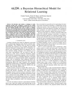 rsLDA: a Bayesian Hierarchical Model for Relational Learning
