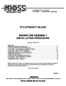 rt3 straight blade snowplow assembly installation _599b48a21723dd0f406edaa9 rt3 straight blade owner's manual mafiadoc com Boss Snow Plow Solenoid Diagram at readyjetset.co