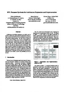 RTL Processor Synthesis for Architecture Exploration and ... - CiteSeerX