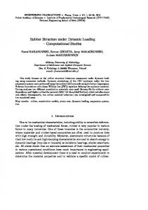 Rubber Structure under Dynamic Loading - Engineering Transactions