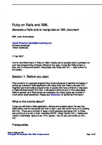 Ruby on Rails and XML - IBM Software