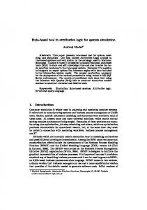 Rule-based tool in attributive logic for system