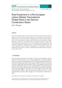 Rule Enactment in a Pan-European Labour ... - Wiley Online Library