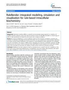 RuleBender: integrated modeling, simulation and ... - Semantic Scholar