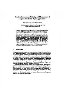 Runtime Performance Modeling and Measurement ... - Semantic Scholar