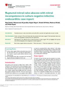 Ruptured mitral valve abscess with mitral ...