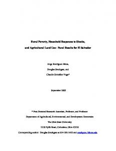 Rural Poverty, Household Responses to Shocks, and Agricultural ...