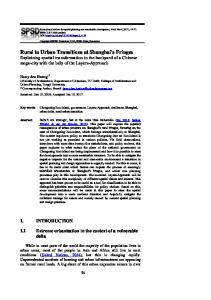 Rural to Urban Transitions at Shanghai's Fringes - J-Stage