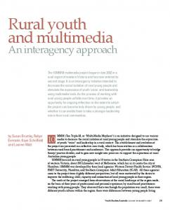 Rural youth and multimedia - Informit