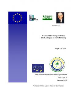 Russia and the European Union - Archive of European Integration