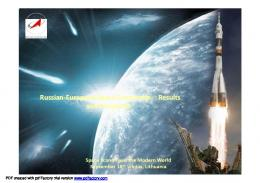 Russian-European Space Cooperation