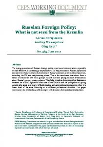 Russian Foreign Policy - Archive of European Integration