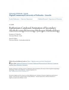 Ruthenium-Catalyzed Amination of Secondary ... - Semantic Scholar