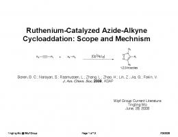 Ruthenium-Catalyzed Azide-Alkyne Cycloaddation: Scope and ...