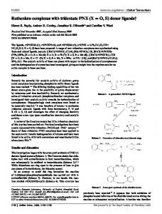 Ruthenium complexes with tridentate PNX (X = O, S