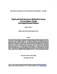 Rutherford County Retail and Food Services - Middle Tennessee State ...