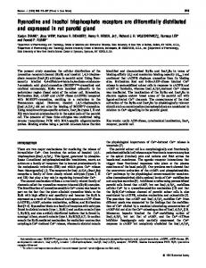 Ryanodine and inositol trisphosphate receptors are differentially ...