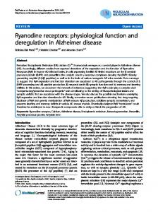 Ryanodine receptors: physiological function and ... - BioMedSearch
