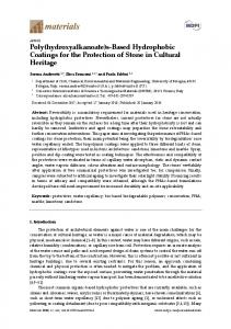 s-Based Hydrophobic Coatings for the Protection of