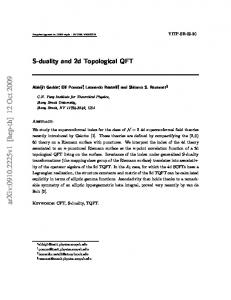 S-duality and 2d Topological QFT