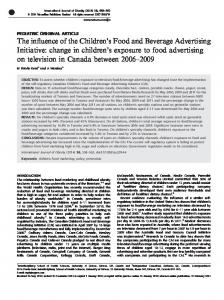 s Food and Beverage Advertising Initiative - Nature