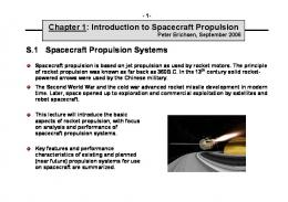 S.1 Spacecraft Propulsion Systems Chapter 1: Introduction to ...