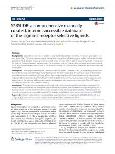 S2RSLDB: a comprehensive manually curated ... - Semantic Scholar