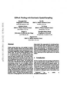 S3Pool: Pooling with Stochastic Spatial Sampling