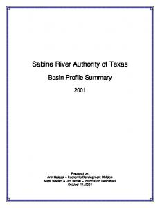 Sabine River Authority of Texas