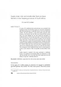 Sabinet   Supply chain risks and smallholder fresh produce farmers in ...