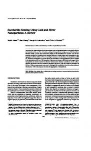 Saccharide Sensing Using Gold and Silver Nanoparticles-A Review