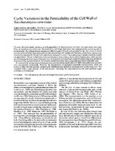 Saccharomyces cerevisiae - Wiley Online Library