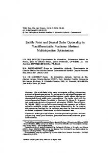 Saddle Point and Second Order Optimality in ... - Scielo.br