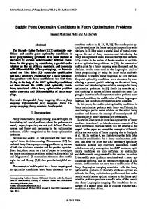 Saddle Point Optimality Conditions in Fuzzy ... - Semantic Scholar