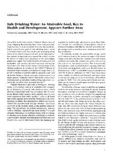 Safe Drinking Water - International Journal of Infectious Diseases