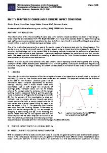 safety analysis of casks under extreme impact conditions