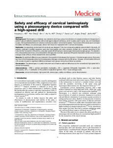 Safety and efficacy of cervical laminoplasty using a piezosurgery
