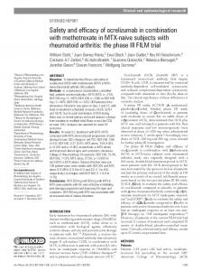 Safety and efficacy of ocrelizumab in combination with methotrexate in ...