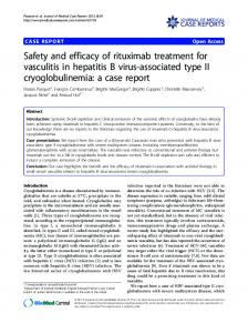 Safety and efficacy of rituximab treatment for vasculitis in ... - CiteSeerX