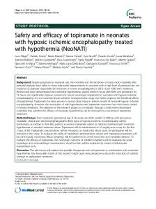 Safety and efficacy of topiramate in neonates with hypoxic ... - CiteSeerX